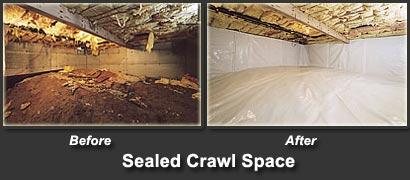 Sealed Crawl Space - Raleigh, Cary, Apex, Fuquay-Varina   Atlantic ...